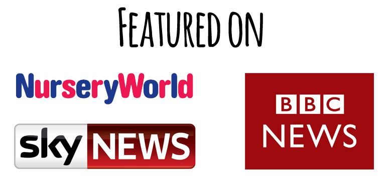 featured on nursery world, sky and bbc