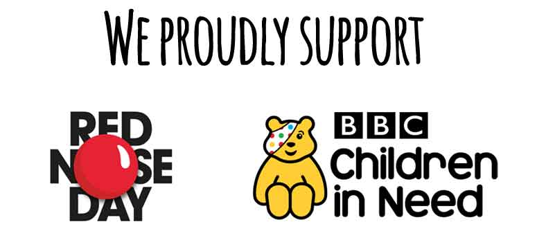 We proudly support red nose day and children in need